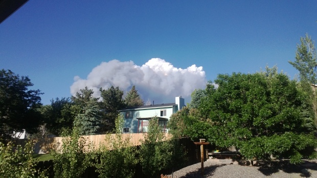 View from our yard of the Black Forest Fire